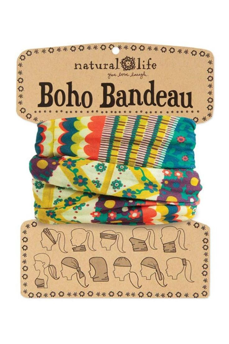 """10 different ways to wearBohobandeaus! Card comes printed with 10 different ways to wear bandeaus.    Measures:18.5"""" L x 9.5"""" W.   Vintage Boho Bandeau  by A Little Bit Hippy. Accessories - Hair Accessories Roanoke, Virginia"""