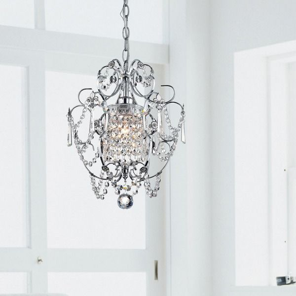 Master Bathroom Option Chrome Crystal Chandelier | Overstock.com Shopping - The Best Deals on Chandelier