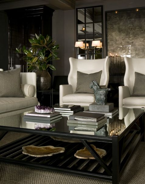 Large scale comfortable chairs.  A must for masculine decor.