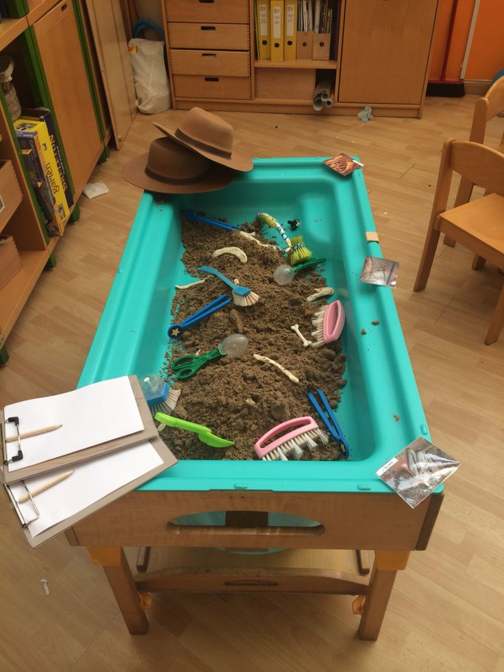 Dinosaur dig role play with salt dough dinosaur bones eyfs