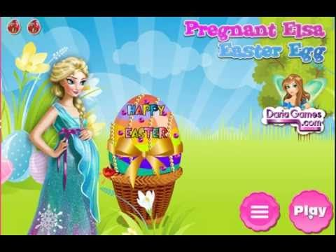 Pregnant Elsa Easter Egg-disney princess best baby games