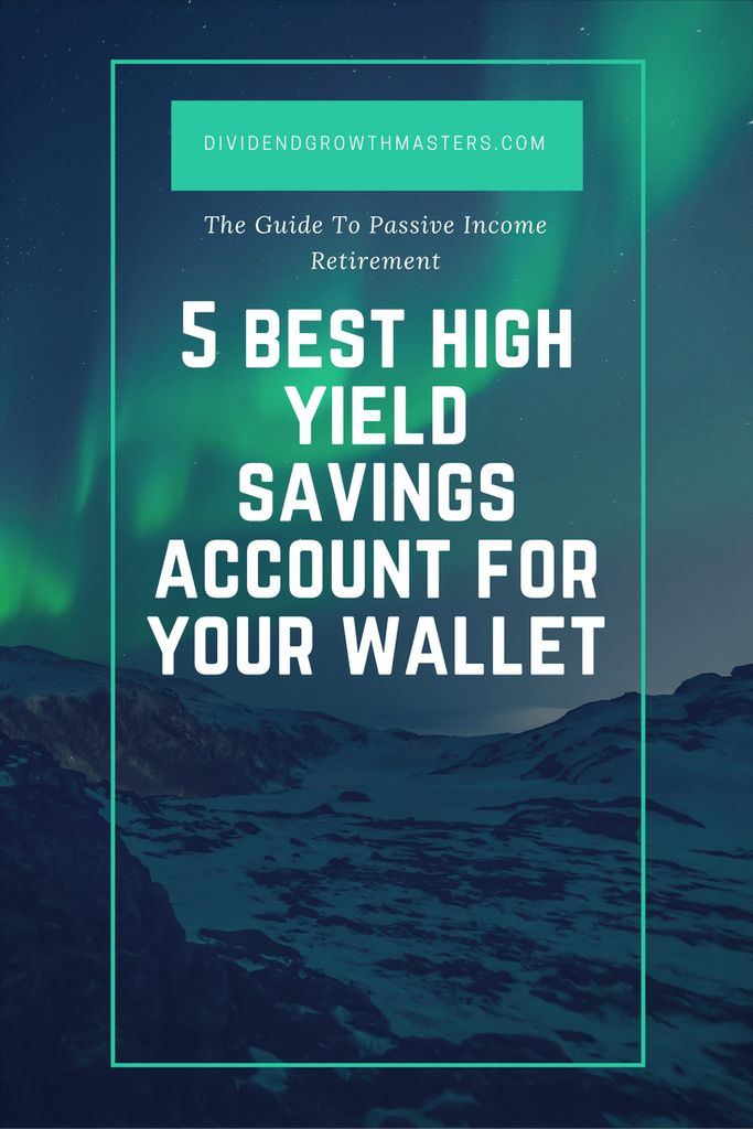 5 best high yield savings account for your wallet