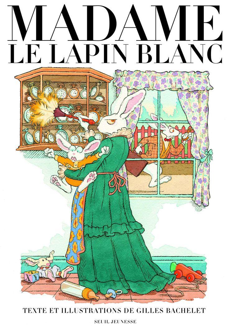 Le journal de Madame le lapin blanc, l'épouse du lapin d'Alice au Pays des merveilles explique pourquoi celui-ci est toujours en retard, ce qu'il fait en dehors de ses heures de service au palais de la reine de Cœur et relate toute l'intimité de sa famille. Pépite de l'album 2012 (Salon jeunesse de Montreuil). #ptitdej2012