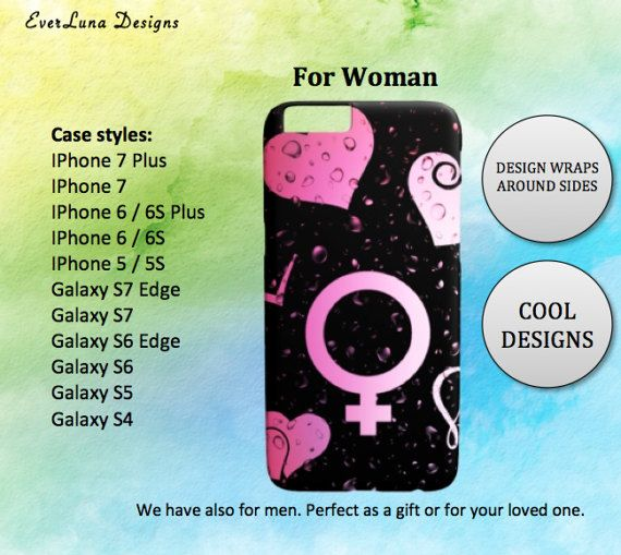 Woman phone case iphone 7 6 and 5 Samsung S7 S6 by EverLunaStore