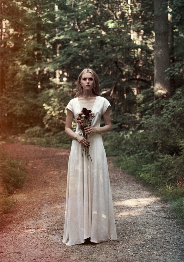 casual wedding gown...