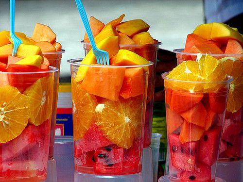 fruit cups & mini forks