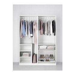 IKEA - PAX, Armario, -, 150x66x201 cm, , 10 años de garantía. Consulta las condiciones generales en el folleto de garantía.Utiliza la herramienta de planificación PAX para adaptar esta combinación PAX/KOMPLEMENT a tus gustos y necesidades.Las puertas correderas te dejan más sitio para poner muebles, ya que no ocupan espacio cuando están abiertas.Si quieres organizar el interior, puedes añadir los accesorios de interior de la serie KOMPLEMENT.Las patas regulables permiten corregir posibles…