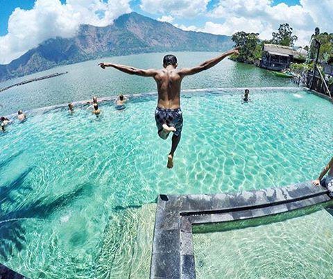 #explorebali photo today by @nikomodjo taken at Natural Hot Springs around Mt. Batur, Kintamani