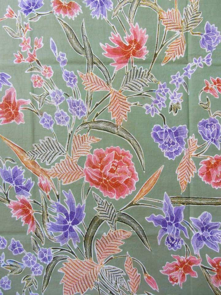 Sarung encim EV Zuylen, handrawn Indonesian Batik