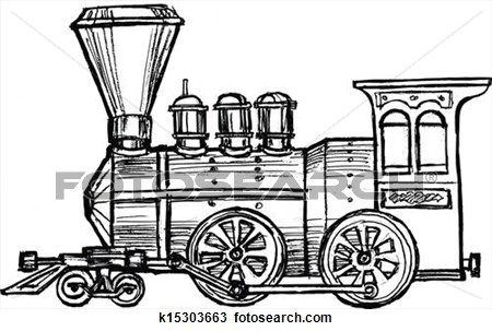 Vintage Steam Train Clipart In 2019