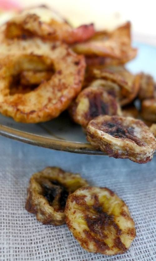 Dehydrated Apple and Banana Chips (with Cinnamon  Coconut Oil of course!) - The Urban Ecolife   The Urban Ecolife