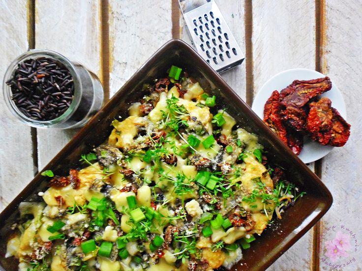 Czarny+ryż+zapiekany+z+kurczakiem+i+suszonymi+pomidorami