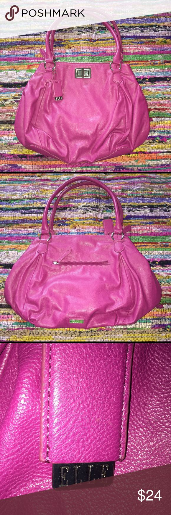 Elle Purse Elle pink purse. Never used in excellent condition. Strap drop 9 1/2'. Width 18'. Length 13'. Elle Bags