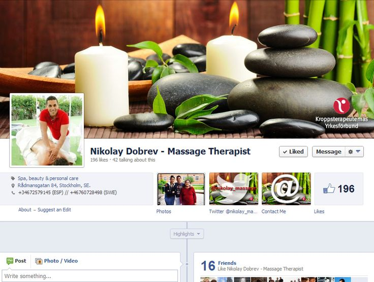 Nikolay Dobrev - Massage Therapist Facebook Page / www.facebook.com/NikolayND.Massages by www.enjoydesigns.net