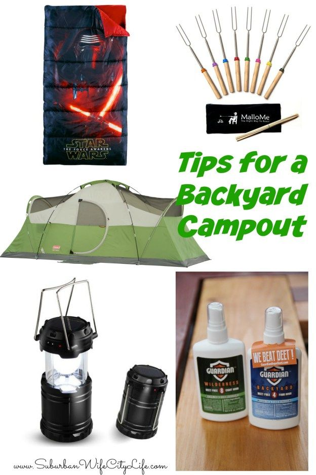Tips for a Backyard Campout