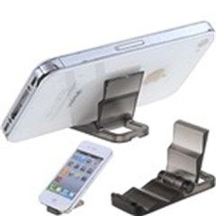 Creative Foldable Mini Display Shelf Phone Stand Desktop Holder for iPhone 4G - Color Assorted