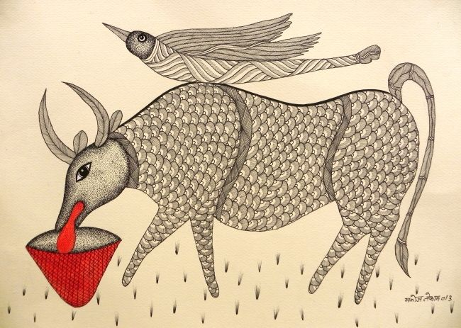 Gond Art - Manoj Kumar Tekam