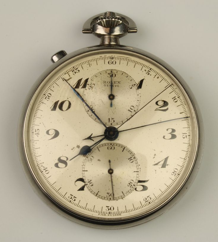 LOT 683, A steel cased Rolex Geneve stopwatch with 2 subsidiary dials and original paper label to the reverse, the case stamped 2885, the movement stamped 88305 £7200
