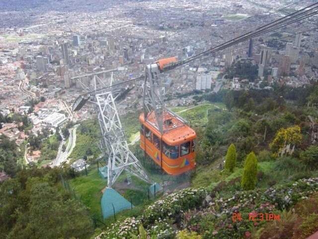 Visiting Monserrate in funicular, Bogota, Colombia