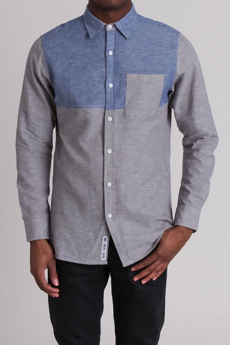Blocked Chambray Shirt / by Woolf