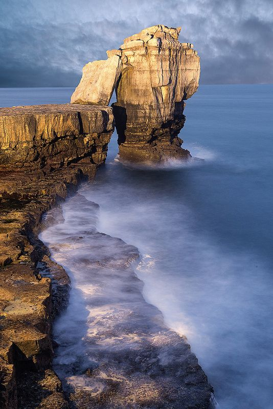 Pulpit Rock on the Jurassic coast of Dorset, England