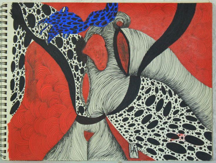 Ink drawing by San Miguel de Allende artist Lino Arteaga