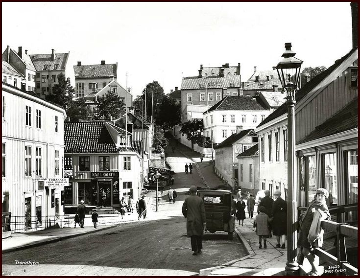 Trondheim, Norway in circa 1923