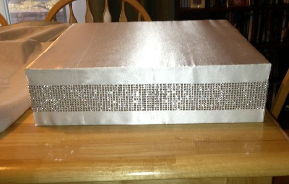 DIY Bling cakestand : wedding bling cake cake stand satin silver white Cake Stand2