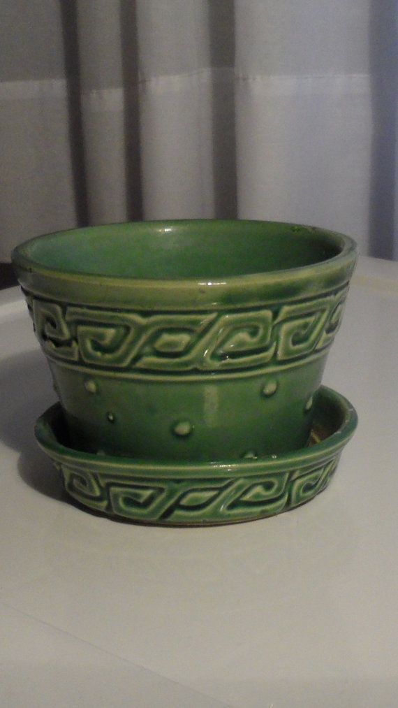 Vintage McCoy and Nelson Pottery Co Small Plant Pot by BYGONERA