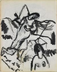 Colin McCahon, Sketch for Angel of the Annunciation]</em>, 1947