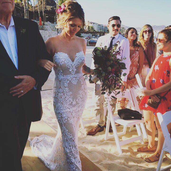 One of my favorite wedding dresses! Olga @loscabosmakeup.com #caboweddings