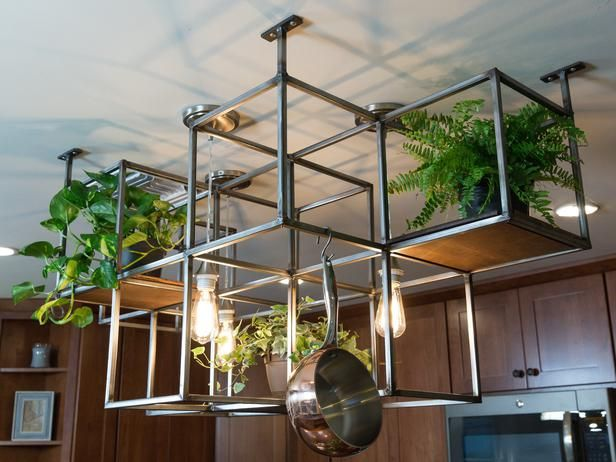 Check out the stunning custom-made pot hanger from Alison Victoria and the Kitchen Crashers crew.