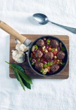 Spanske kjøttboller med bønnecassoulet | www.greteroede.no | Oppskrifter | www.greteroede.no