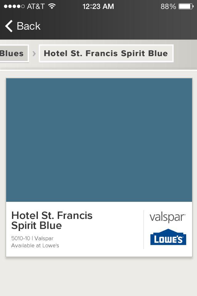 Valspar 5010 10 Hotel St Francis Spirit Blue Paint