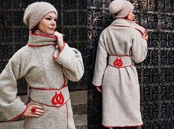 Lange Wintermantel Budapest Long Coat for von RoteTulpe auf Etsy