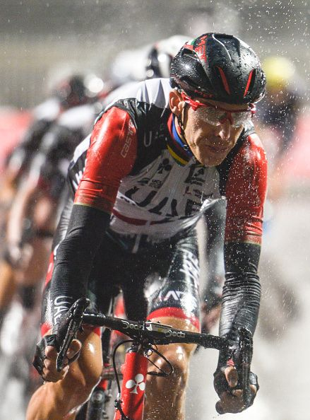 Rui Costa in action during the fourth stage a 143km Yas Island Stage at the F1 Yas Marina circuit On Sunday...