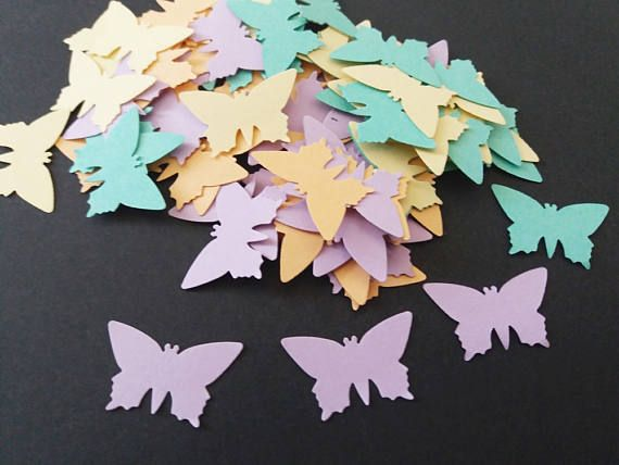 butterflies confetti pastel colors wedding confetti baby