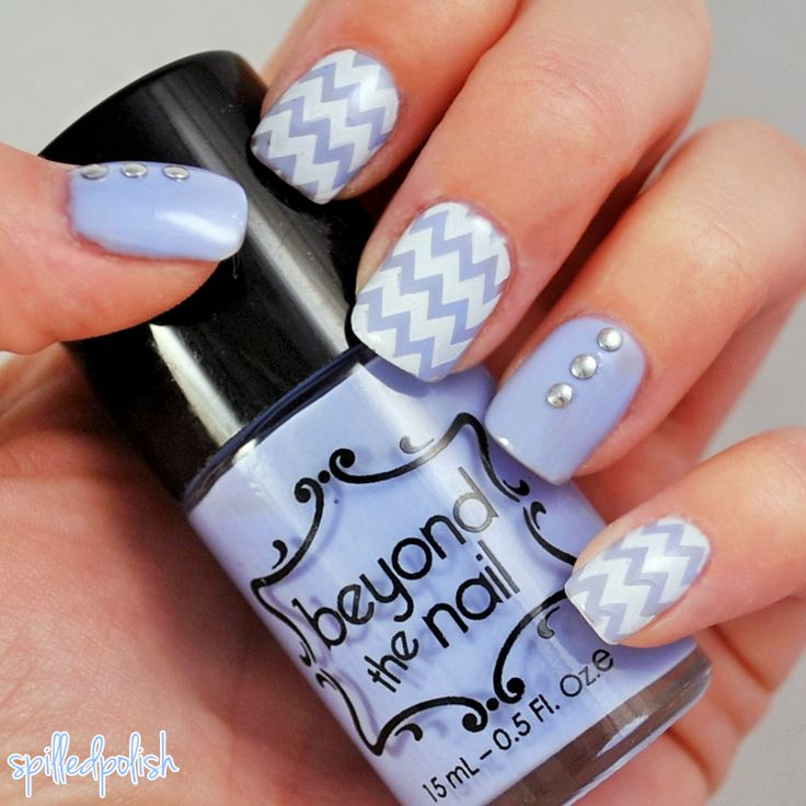 Pastel Purple Chevron #nailart