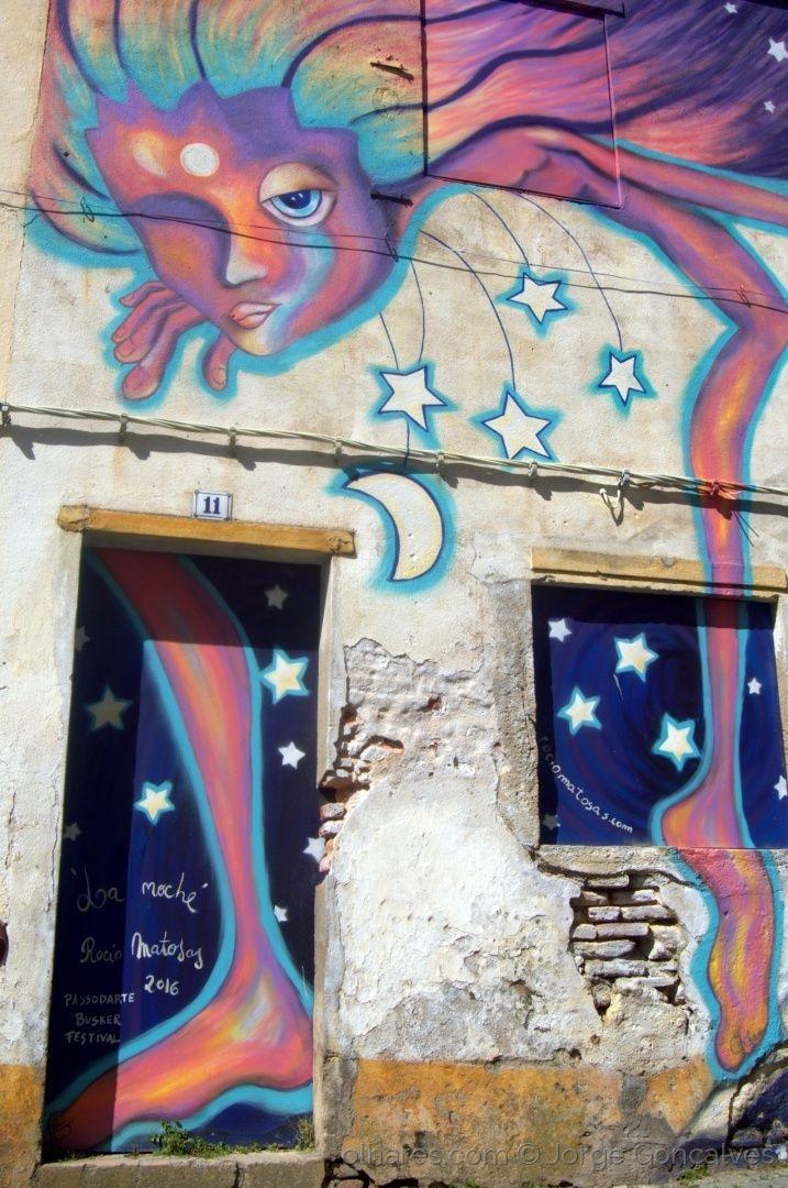 Graffit de Rocio Matosas no Crato criado no PASSODARTE Busker Festival 2016.