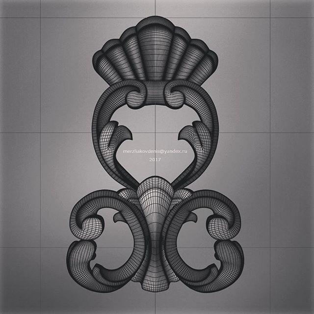 #model #ornament #cinema #3dprint #3d #art #cnc #design #decor #лепнина #sculpture #molding #чпу #modeling #flowers #designer #mesh #3dprinting #3dmodel #nature #gallery