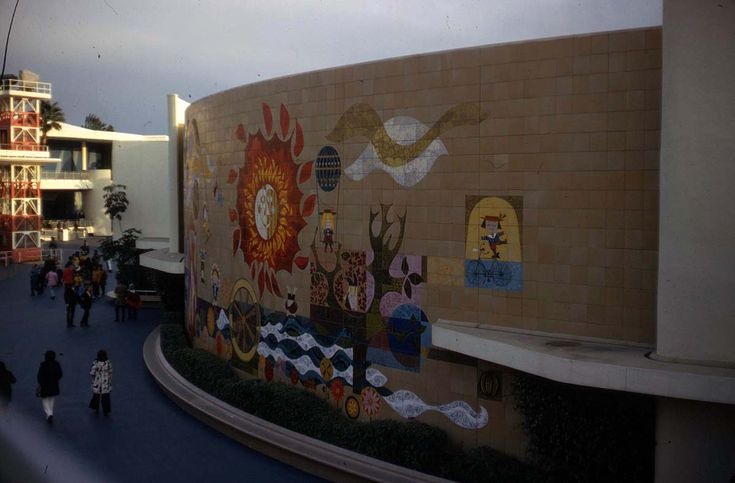 One of a pair of mary blair murals on the adventure thru for Disneyland mural