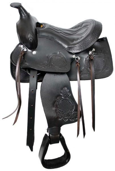 """12"""" Brown Pony saddle with top grain leather seat"""