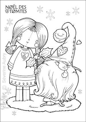 * * * * * * * * * * * * * * * A mi chemin de la Noël : c'est le moment d'inviter les Tomtes pour un coup de main dans les préparatifs !!! Les Tomtes? Les lutins suédois cromignons qui habitent nos maisons ! Moyennant un bol bien chaud de bouillie de céréales...