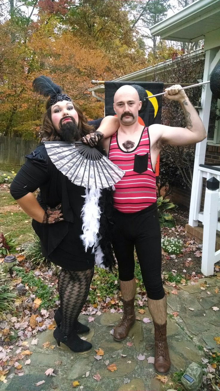 Bearded Lady and the Strong Man Halloween costume