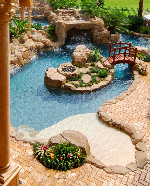 A Look At Some Residential Lazy Rivers « Homes of the Rich – The Web's #1 Luxury Real Estate Blog