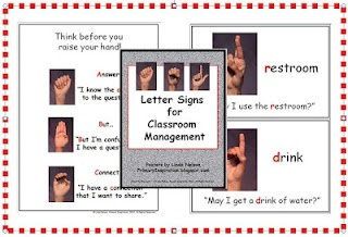 Classroom Freebies Too: Fingerspelling -Hints for Classroom Control: Future Classroom,  Internet Site, Classroom Environment, Classroom Freebies,  Website, Grade Classroom, Classroom Control, Classroom Management, Classroom Ideas
