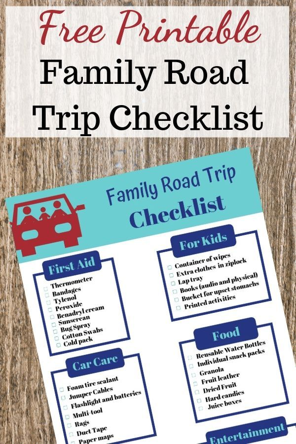 Family Road Trip Checklist When Traveling on a Budget ...