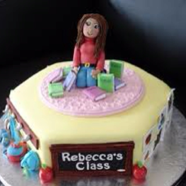 Cake Images For Teacher : 154 best Teacher Cakes images on Pinterest Teacher cakes ...