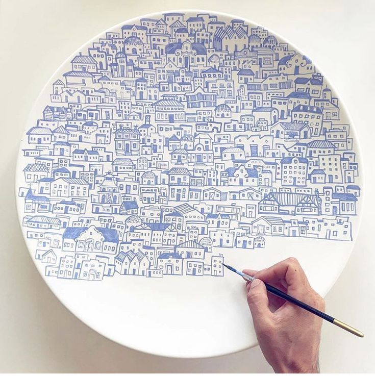ceramic plate, beautifully clay, ceramics, pottery, art, painting, – #art #beaut…