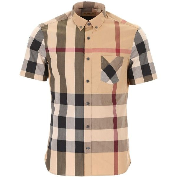 Thornaby Shirt ($255) ❤ liked on Polyvore featuring men's fashion, men's clothing, men's shirts, men's casual shirts, mens button down collar shirts, mens plaid shirts, mens oversized shirt, mens tartan shirt and mens curved hem t shirt